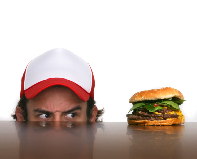 Comfort eaters may consume less in good times